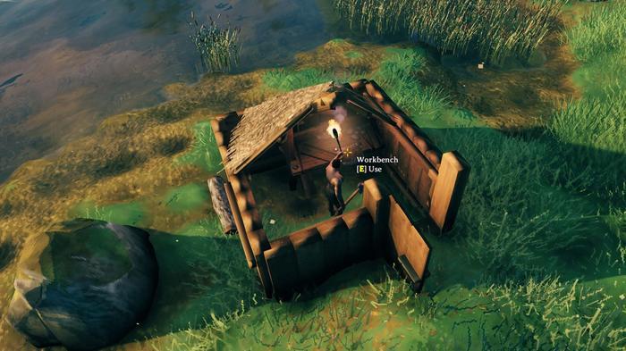 Valheim Workbench Hut