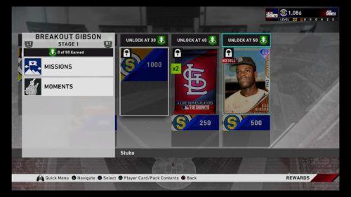 Bob Gibson MLB The Show 20 Diamond Dynasty rewards