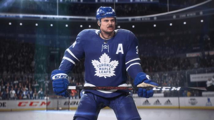 NHL 22 cover Auston Matthews