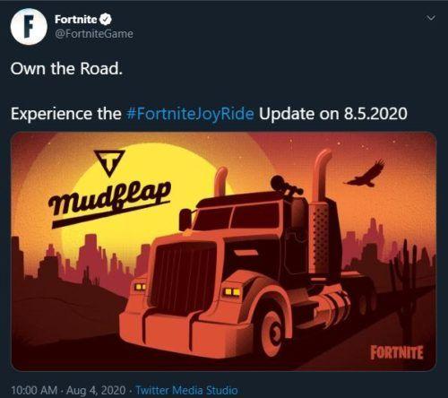 fortnite mudflap new vehicle