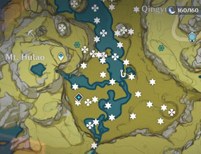 Mooncharms and Mystmoon locations in Genshin Impact.