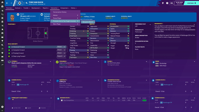 FM20 player interaction
