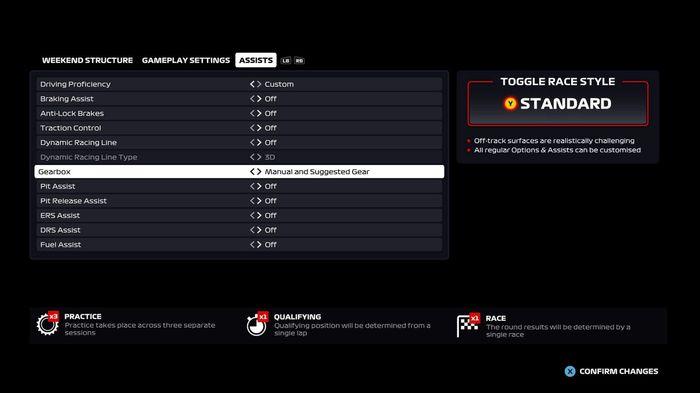 F1 2020 Gears assist 1