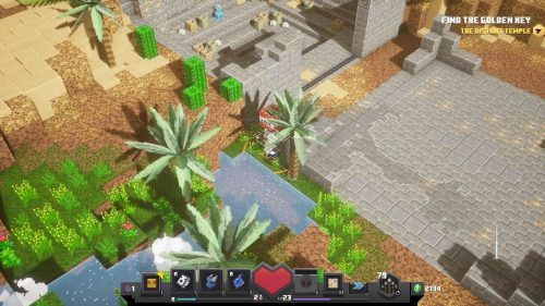 Minecraft Dungeons Cacti Canyon secret rune entrance