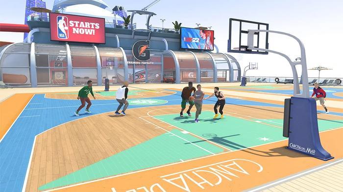The Cancha Del Mar in NBA 2K22