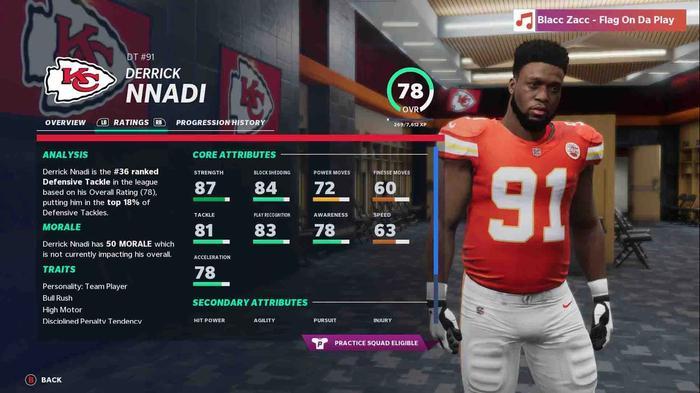 Madden 21 Hidden Gems Derrick Nnadi
