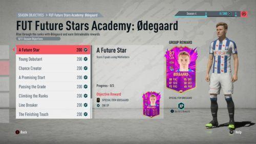 fifa 20 future stars academy martin odegaard fut objective