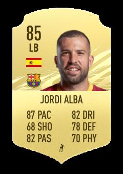 jordi alba fifa 22 prediction 85