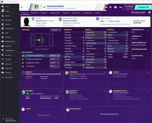 Nohan Kenneh FM20 Attributes