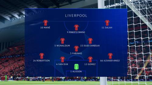 Liverpool Atletico lineup