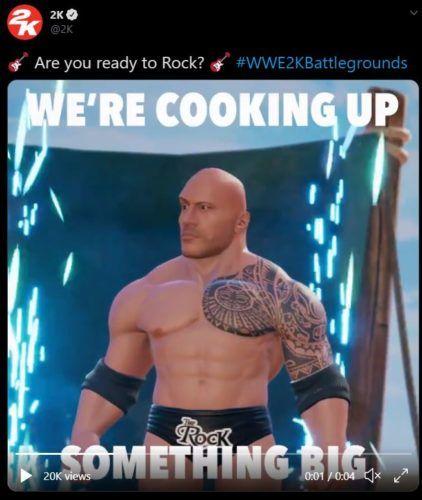 wwe 2k battlegrounds rock