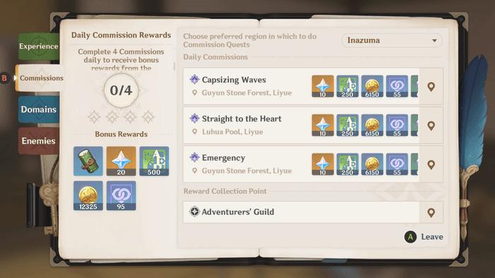 Genshin Impact Adventurer's Guide