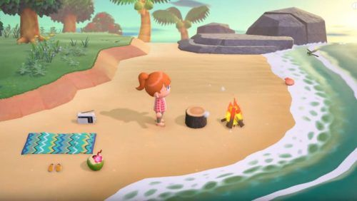 The beach is one of many varied environments available to explore in the game.