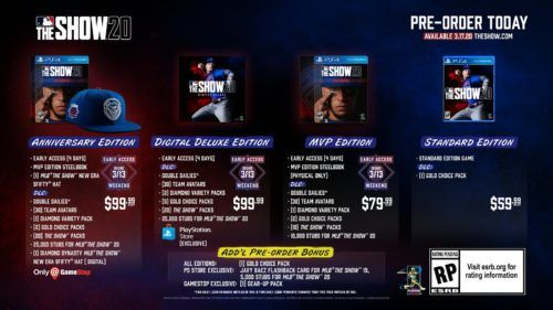 MLB The Show 20 editions & pre-order