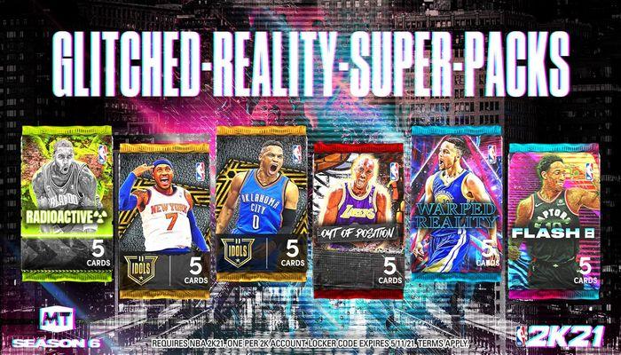 NBA 2K21 Glitched Reality MyTEAM Super Packs Locker Code
