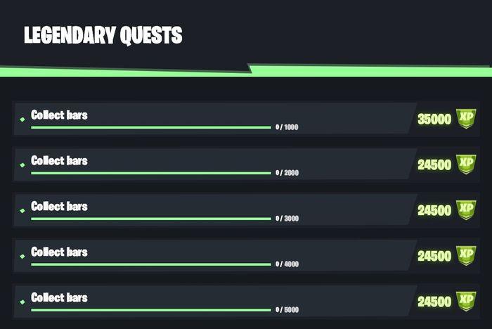 Fortnite Season 6 Week 5 Legendary Quests