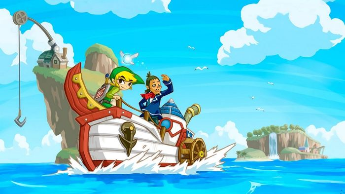 The Legend Of Zelda Wind Waker Key Art Boat