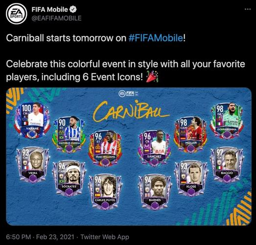 FIFA 21 Mobile carniball ultimate team