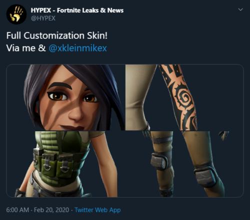 Customize skin