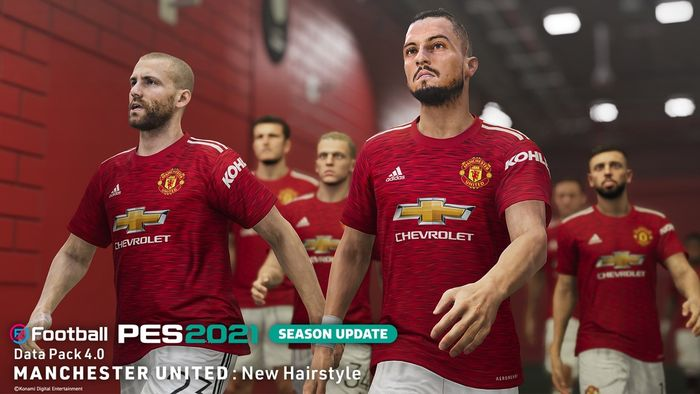 FACE OFF - Man Utd left backs Luke Shaw and Alex Telles have been given the face update treatment