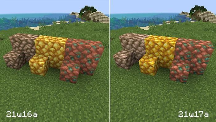 Minecraft 21w17a snapshot