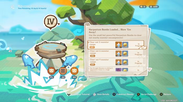 Genshin Impact Harpastum Bombs screenshot
