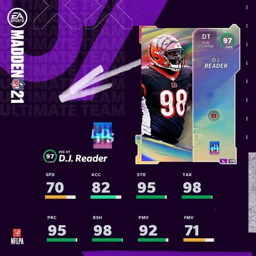 Madden 21 MUT Ultimate Team DJ Reader LTD card