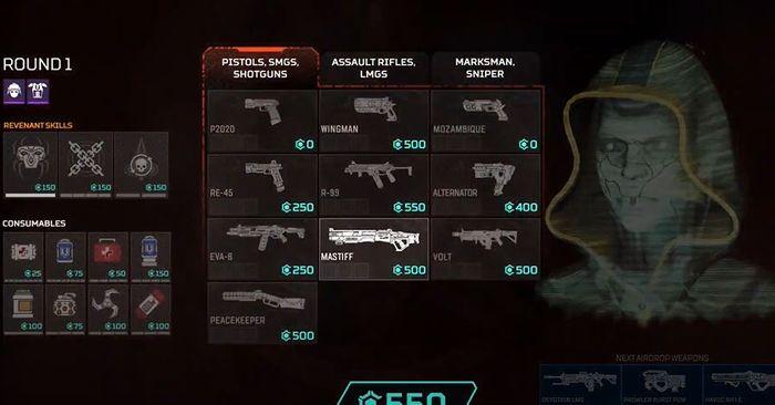 Apex Legends Arenas Mode Buy Phase