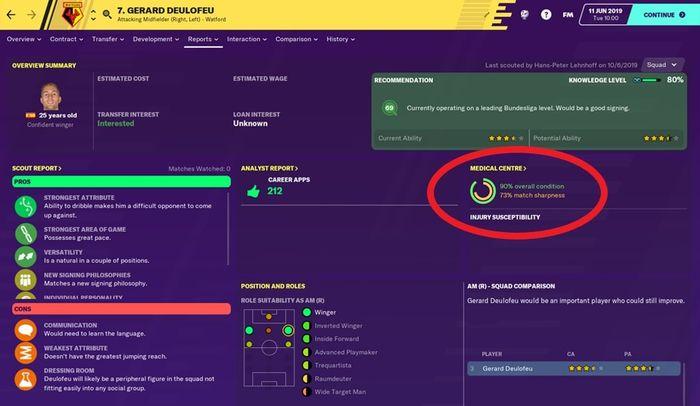 football manager 20 deulofeu match sharpness