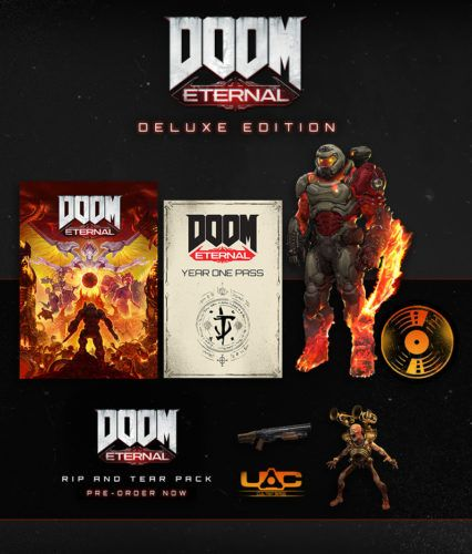 The package for Doom Eternal's deluxe edition