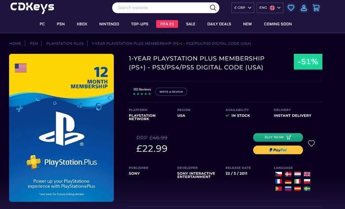 CDKeys USA discount