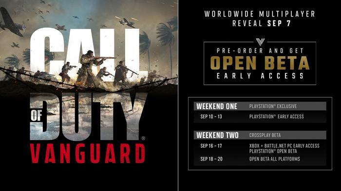 Call of Duty Vanguard Open Beta Start