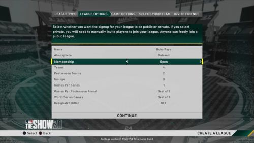 mlb the show 20 custom league settings