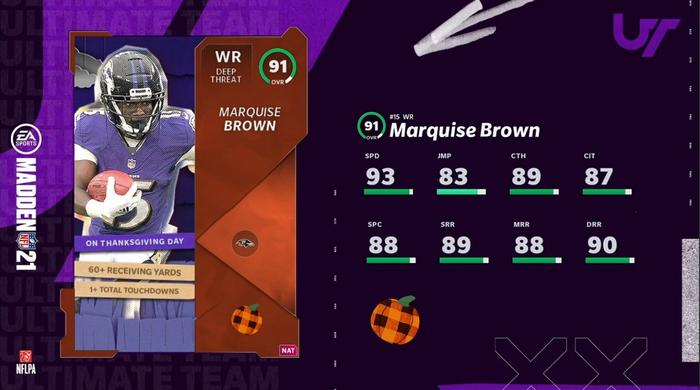 Madden 21 Autumn All Star Marquise Brown