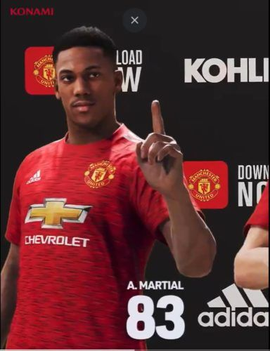 anthony martial pes 2021 ratings 83