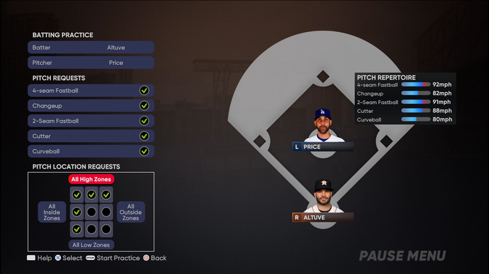 MLB The Show 21 Batting Hitting Guide Controls Practice Mode