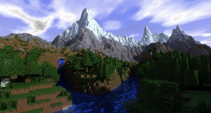 minecraft mountain Update 1.16.4