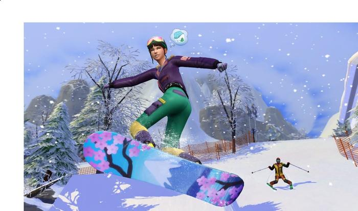 the sims 4 snowy escape snowboard