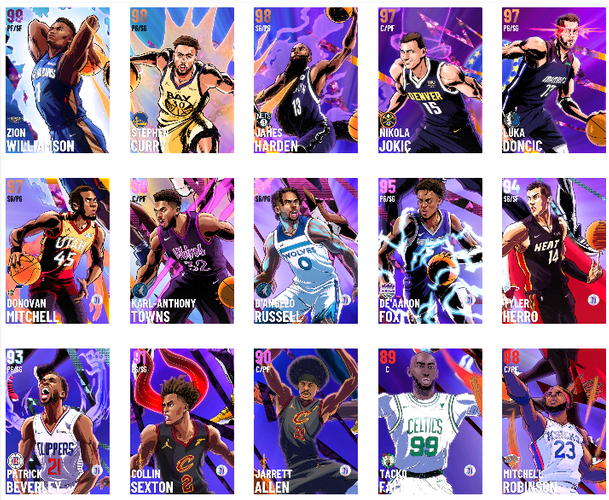 NBA 2K21 MyTEAM Modern Age Collection Cards