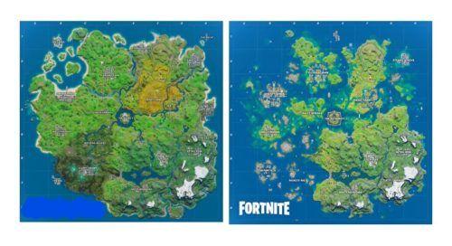 fortnite map comparison