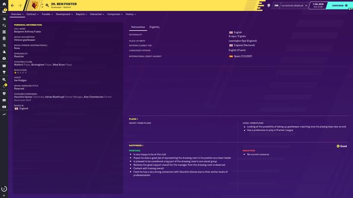 FM20 player profile