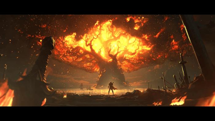 WoW Shadowlands Cinematic Sylvanas Burns World Tree