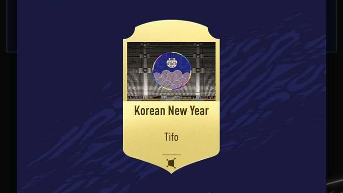 Korean New Year Tifo fifa 21 ultimate team