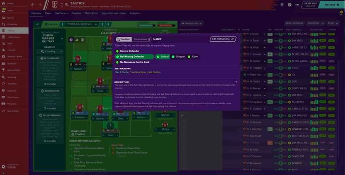 fm21 new features defender roles