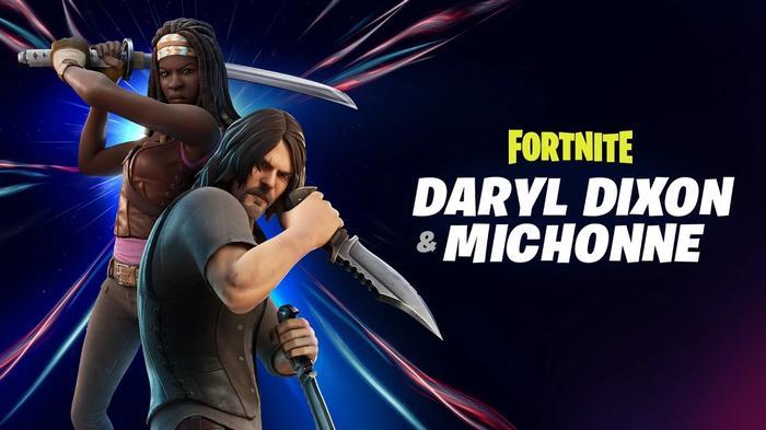 Fortnite Chapter 2 Season 5 Daryl and Michonne key art