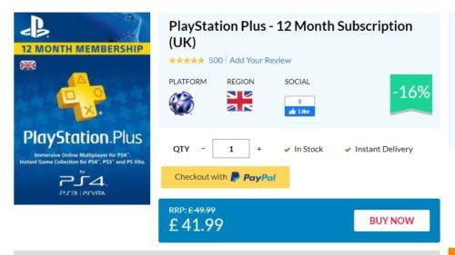 ps plus 12 month deal