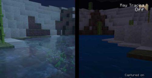 Minecraft Xbox Series X Ray Tracing