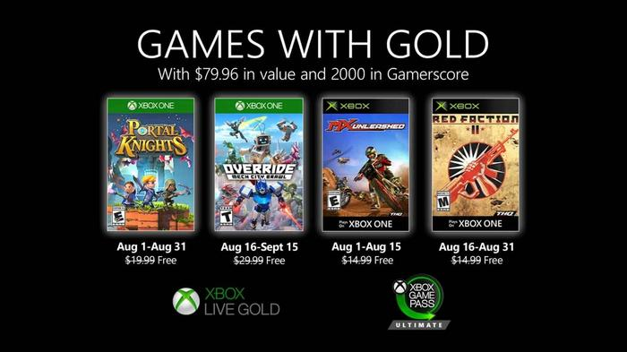 august 2020 xbox games with gold min