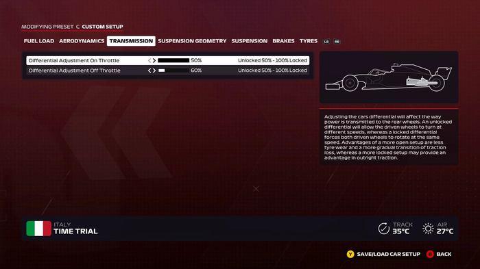 F1 2020 Italy transmission