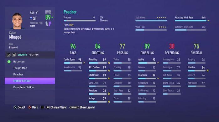 fifa 21 career mode player development
